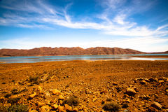 Water in desert, Marocco Stock Images