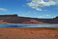 Water in desert Stock Photo