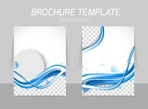 Water design brochure Royalty Free Stock Images