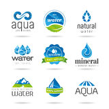 Water design elements. Water icon. Water, water and water products for icon design can be used in studies with Stock Photography