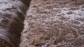 Water Destroys Road stock footage
