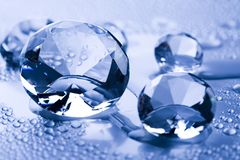 Water & Diamond Stock Photography