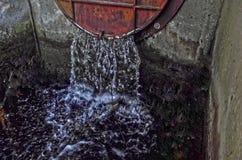 Water die van grote rivier worden vrijgegeven Royalty-vrije Stock Foto's