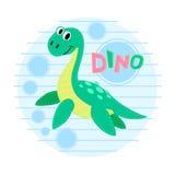 Water dinosaur  illustration. Royalty Free Stock Photography