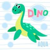 Water dinosaur  illustration. Royalty Free Stock Photo