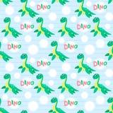 Water dinosaur  seamless pattern. Royalty Free Stock Image