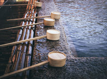 Water Dipper in Japan Shine traditional Religion Culture Stock Image