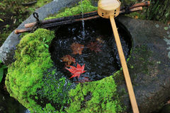 Water dipper at the Japanese temple Stock Photo
