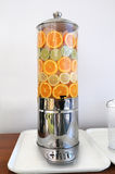 Water Dispenser With Fruit Royalty Free Stock Images