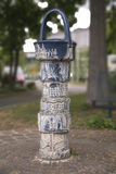 Water dispenser. Ornamented water dispenser in Wuerzburg stock images