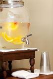 Water dispenser in spa. Water with fruits and berries in the water dispenser in spa Stock Photos