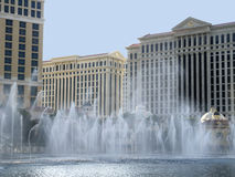 Water display at Casino in Las Vegas in Nevada USA Royalty Free Stock Photos