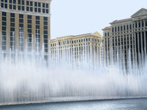 Water display at Casino in Las Vegas in Nevada USA. Las Vegas (English: The Meadows) was named by Spaniards in the Antonio Armijo party, who used the water in Royalty Free Stock Images