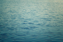 Water with a distinctive deep blue color. A rippled body of water with a distinctive deep blue color Royalty Free Stock Photos