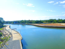 Water-distribution canal Royalty Free Stock Photo