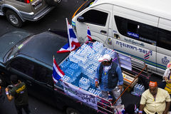 Water donate for protestors Royalty Free Stock Image