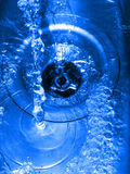 Water down the drain stock image
