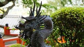 Water dragon at Nachi falls shrine in Japan Royalty Free Stock Photo