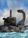 Water Dragons. 3d render of Water Dragons Royalty Free Stock Photography