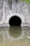 Water Drain,Drain flow into the canal. Royalty Free Stock Photos