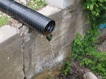 Water drain pipe royalty free stock photo