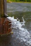 Water Drain Spout Stock Photo