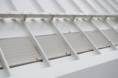 Water Drainage System. Close-up of a modern roof water drainage system Stock Photography
