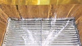 Water draining waterfall pool sanitation. Water draining and waterfall pool sanitation stock video footage