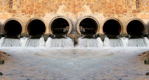 Water from drains. Stock Image