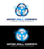 Water Drilling Logo Royalty Free Stock Image