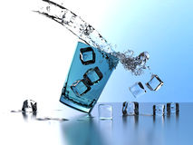 Water drink crash Royalty Free Stock Photos