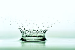 Water drip formed crown Royalty Free Stock Photography