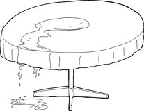 Water Dripping From Outlined Table Royalty Free Stock Image
