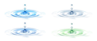 Water drop. Illustration drawing of beautiful blue water ripple Royalty Free Stock Photo