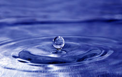 Water drop. Blue clear water drop splash Stock Photo