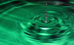 Water drop. With copy space Royalty Free Stock Images