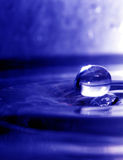 Water drop 2. A water drop just before breaking the water surfave Royalty Free Stock Photography