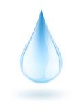 Water drop. Illustration of water drop on white Royalty Free Stock Photo