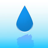 Water drop. A water drop to provide incentives to not waste water stock illustration