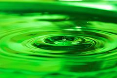 Water drop. Green water drops Royalty Free Stock Images