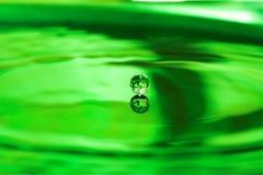 Water drop. Green water drop, almost splashing Stock Image