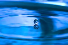 Water drop. Before impact Royalty Free Stock Photography