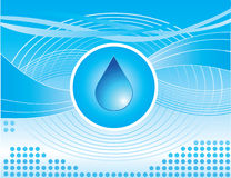 Water Drop. Abstract Design with a water drop and various design elements royalty free illustration