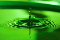 Water drop. Green water drop Royalty Free Stock Photos