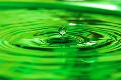 Water drop. Green water drop Stock Image