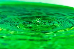 Water drop. Green water drop Royalty Free Stock Images