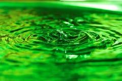 Water drop. Unusual green water drop Royalty Free Stock Image