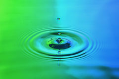 Water drop. In  abstract lighting Royalty Free Stock Image