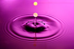 Water drop abstraction like two yellow balls dropping into a torch Stock Images
