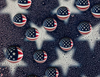 Water Drop American Flag Stock Photo